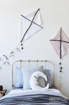 ATELIER RUE VERTE , le blog: DIY / Des cerfs volants pour une chambre d'enfant /