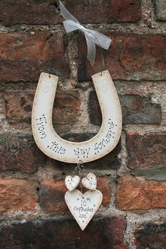 Personalised Handmade Wedding Horseshoe - Traditionally, the Irish bride would carry a horseshoe throughout the ceremony for luck. Consider including this symbol in your own ceremony