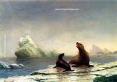Albert Bierstadt Seals, painting