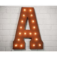 Greyleigh Letter Marquee Sign Color: Rust, Letter: Z 70s Vintage Fashion, Marquee Sign, New Sign, Decorating Your Home, Signage, 3 D, Table Lamp, Rust, Lettering