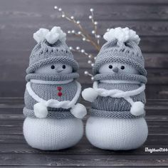 Kitchen decor, knitted and needle felted crafts by NeighborKitty Sock Snowman, Diy Snowman, Snowman Ornaments, Christmas Images, Christmas Crafts, Cute Images For Dp, Heartbreak Wallpaper, Cute Baby Wallpaper, Cute Cartoon Pictures
