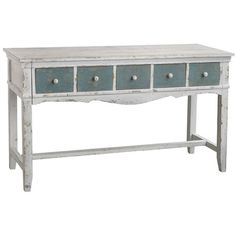 I pinned this Messina Desk from the Stonestreet Green event at Joss and Main! Add a touch of rustic elegance to your living room, office, or vanity with the Messina Desk. Showcasing a traditional silhouette, five drawers, and antiqued finishes of white and blue, this charming design is perfect for organizing important documents or displaying lush greenery and your latest estate sale finds.
