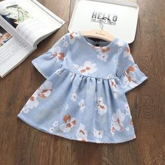 Ideas birthday outfit toddler girl long sleeve for 2019 Baby Dress Design, Baby Girl Dress Patterns, Baby Clothes Patterns, Cute Baby Clothes, Little Girl Dresses, Cute Baby Dresses, Girls Dresses, Baby Girl Fashion, Toddler Fashion
