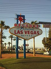 Las Vegas  The famous Las Vegas sign..site of our Elvis wedding & Elvis led tour of the strip!! Cool!   Only 8 weeks away  Viva Las Vegas!!