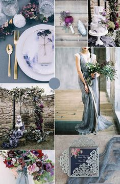 7 Amazing Summer Wedding Color Combos for a Memorable Big Day stunning moody dusty blue and plum purple summer wedding colors. Purple Summer Wedding, Plum Wedding Colors, Wedding Color Pallet, Wedding Color Schemes, Wedding Flowers, Wedding Themes, Wedding Decorations, Wedding Ideas, Wedding Cakes
