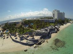 Aerial view of the property with Riu Palace Peninsula in the distance