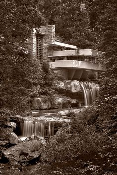 Falling Water Pennsylvania / Black and White Photography / photo by Steve Gadomski / Fine Art America