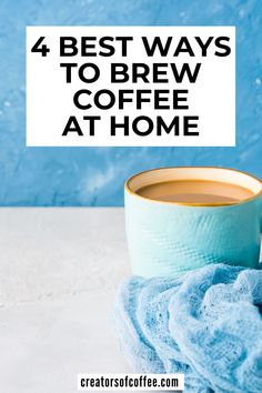 Do you want to make better coffee at home? We share 4 of the best coffee brewing methods at home and explain how to make good coffee at home every day Cold Brew Coffee Recipe, Making Cold Brew Coffee, Coffee Drink Recipes, Coffee Drinks, Pour Over Coffee Maker, Best Coffee Maker, Steeped Coffee, Espresso At Home, Coffee Brewing Methods