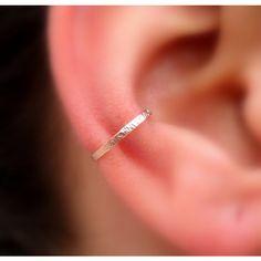 14K Rose Gold Filled Ear Cuff Hoop Earring... ($11) ❤ liked on Polyvore featuring jewelry, earrings, piercings, pictures, earring cuff jewelry, hand crafted jewelry, ear cuff jewelry, lightweight earrings and hammered hoop earrings