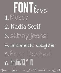 Fonts. #fonts