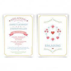 Hochzeitseinladungen - Blumenkranz  #hochzeit #einladungskarte #hochzeitseinladung #blumenkranz #blumenmädchen #einladung #papeterie #kartenmachende