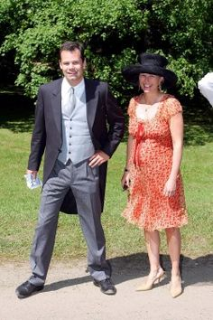Prince Constantin and his wife Countess Marie pictured together at a wedding in 2004.