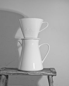 vintage german ceramic melitta filter and pot