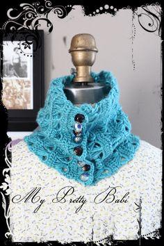 Crochet Neck Warmer Handmade Scarf Crochet Scarf by myprettybabi, $60.00
