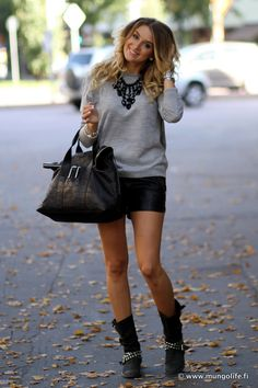 Boots shorts sweater