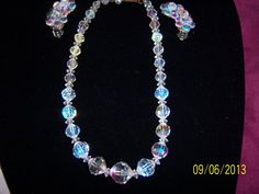 Diamond Cut Austrian Crystal Necklace with by CalicoCandys on Etsy, $20.00
