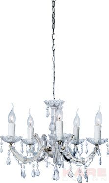 Hanging Lamp Barock Clear 5 Lights