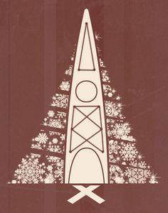 Kayak Christmas Tree