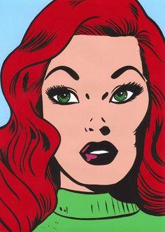 redhead woman #PopArtGirls #PopArt