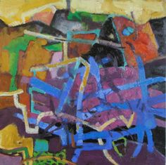 Maps Series Paintings - Annie Helmericks-Louder, Artist