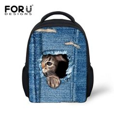 Cute Mini Backpacks for small Children with 3D Animals and Pets