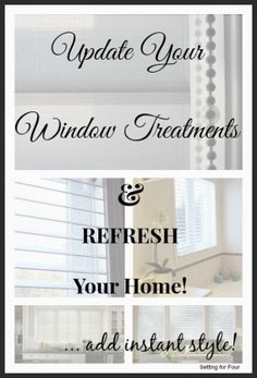Update your window treatments and refresh your home decor Instantly with new composite wood blinds and sheer shades. Awesome home improvement idea! Window Coverings, Window Treatments, Decorating On A Budget, Interior Decorating, Interior Design, Budget Blinds, Home Hacks, In Kindergarten, Home Furniture