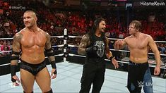 Randy, Roman & Shirtless Dean! Perfect way to end Monday Night Raw! <3