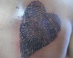 thumbprint heart tattoo - want his thumbprint in a heart on my shoulder