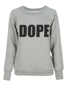 Grey Dope Print Crew Neck Sweatshirt  £12.95 #Chiarafashion