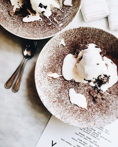 gorgeous dessert from Chocolate Marshmallows, Camembert Cheese, Ethnic Recipes, Desserts, Real Talk, Thursday, Conversation, Laughter, October