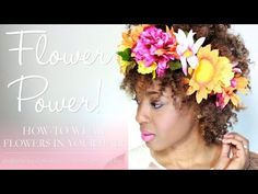 4 Styles for Growing Out Curly Bangs - pRoy's flower crown is GORGEOUS!