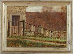 ■ HAWKINS, Louis Welden (French, 1849-1910) - La clôture en bois au bord du chemin. Oil on canvas 36 x 51.3 cm - Private Collection, France (http://www.markmurray.com/image/881/louis-weldenhawkins/la-clôture-en-bois-au-bord-du-chemin) / A student of Bouguereau, Boulanger and Lefebvre at the Académie Julian ■ Луис Велден ХОУКИНС - Деревянный забор возле дороги / Студенческая работа Хоукинса в период его обучения у Бугро и Лефевра в Академии Жюльена