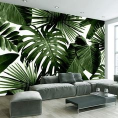 Cheap photo wallpaper, Buy Quality wall murals directly from China custom photo wallpaper Suppliers: Custom Photo Wallpaper Retro Tropical Rain Forest Palm Banana Leaves Wall Mural Cafe Restaurant Theme Hotel Backdrop Frescoes Living Room Bedroom, Living Room Decor, Living Rooms, Kitchen Living, Bedroom Murals, Mural Cafe, Theme Hotel, Wall Design, House Design