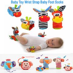 Cartoon Baby Toys 0-12 Months Soft Animal Baby Rattles Children Infant Newborn Plush Sock Baby Toy Wrist Strap Baby Foot Socks Price: US $2.53 - 4.86 / Set  Item specifics  Brand Name: Little J Gender: Unisex Features: Soft,Musical,Stuffed Dimensions: 20cm Size: 20cm Model Number: WZ015 Material: Plush Package: Sets
