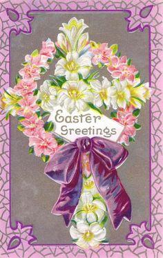 Vintage Easter Bunnies Notecard  Vintage Easter Easter And Vintage