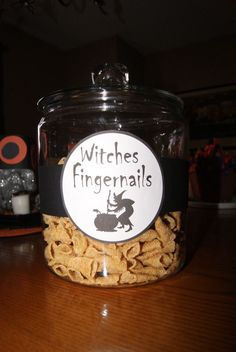 Bugles as witches fingernails