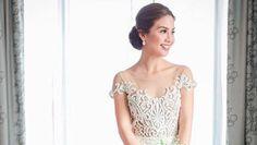 HAPPY BRIDE. Kaye Abad wears custom Francis Libiran gown on her wedding day. Screengrab from Instagram/niceprintphoto