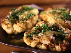 Broiled Cauliflower Steaks with Parsley and Lemon Recipe : Alex Guarnaschelli : Food Network - FoodNetwork.com