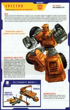 Autobot Micromaster Erector Bio