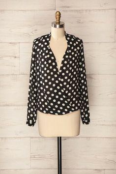 Perugia ♥ Les pois voyagent et se déposent sur un chemiser ample. Polkadots travel and lay on a loose blouse.