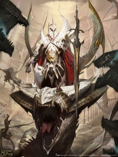 A general of Heaven ride to battle against the demonic hordes, or an ascendant warlord making his bid for all the world?