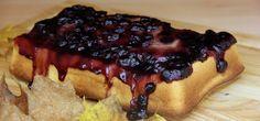Pan de Maíz y Blueberry al reves