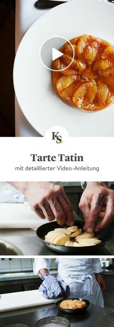 Dieses ausführliche Rezeptvideo zeigt dir, wie du den klassischen gestürzten französischen Apfelkuchen Tarte Tatin zubereitest. #tartetatin #apfelkuchen #kuchen