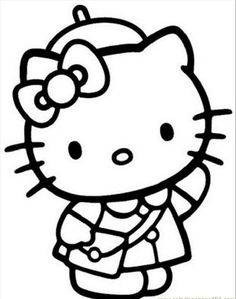 Hello Kitty Coloring Pages Online To Print