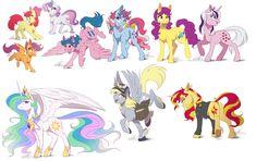 #1004273 - apple bloom, artist:dennybutt, bon bon, cow pony, cutie mark crusaders, derpy hooves, firefly, g1, jacket, looking at you, looking back, mailmare, plot, princess celestia, safe, scootaloo, spread wings, sunset shimmer, sweet stuff, sweetie belle, sweetie drops, twilight, underhoof, unshorn fetlocks - Derpibooru - My Little Pony: Friendship is Magic Imageboard