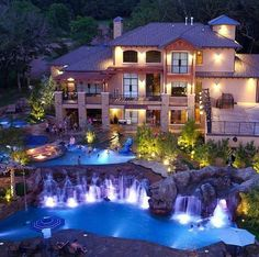 Massive mansion with multi level pools