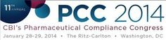 PCC 2014 – 11th Annual Pharmaceutical Compliance Congress@The Ritz-Carlton (1150 22nd St NW, Washington DC, 20037, United States)-----Tuesday January 28-29, 2014 at 7:00 am - 4:30 pm-----CBI's Compliance Congress (PCC) has served as the reigning meeting place for legal, compliance and regulatory executives tasked with the implementation of compliance initiatives organization-wide.----Twitter: http://atnd.it/1fZ99xS-----Facebook: http://atnd.it/15QV6eU-----Booking: http://atnd.it/1fZ9cd5