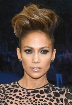 jennifer lopez with a pompadour | Lo's Pompadour Hair - The Best Beauty Looks at the 2013 Met Ball ...