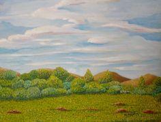 Paisaje con nubes  Óleo sobre lienzo Año 2009  41x33 cm  70€