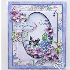 Heartfelt Creations - Oval Background Blooms Project